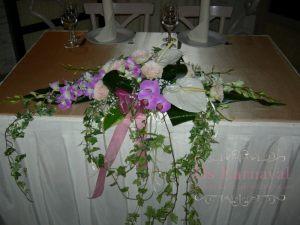 Оформление на свадьбу комбинированной композицией из цветов недорого цены