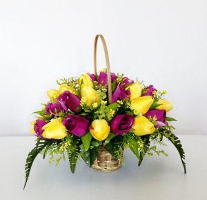 Украшение свадьбы композицией из искусственных цветов недорого цены