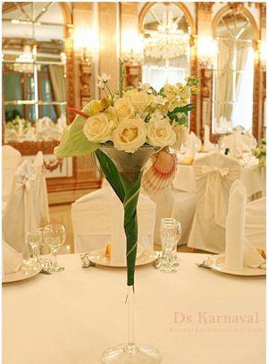 Оформление свадьбы маленькой композицией цветов фото и цены