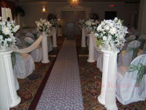 Декор свадеб напольной композицией цветов в Москве