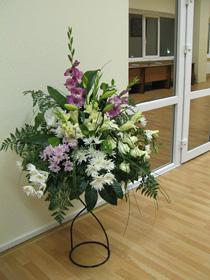 Оформление свадеб напольной композицией цветов недорого в Москве
