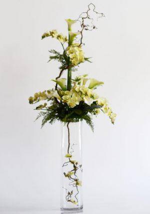 Оформление на свадьбу напольной композицией цветов цены