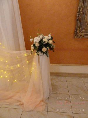 Оформление свадьбы напольной композицией цветов цены