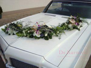 Украшение машины цветами на свадьбу цены
