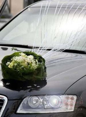 Украшение машины цветами на свадьбу фото и цены