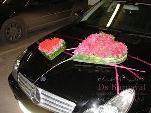 Декор машины цветами к свадьбам цены
