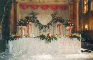 Декор на свадьбу цветами цены