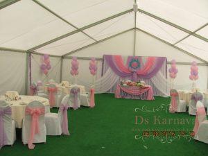 Оформление шатра на свадьбу недорого