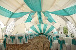 Декор шатра для свадеб в Москве
