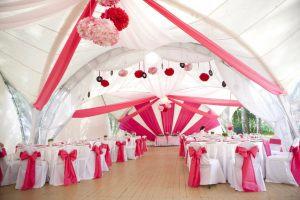 Украшение шатра на свадьбу в Москве
