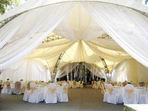 Украшение шатра на свадьбу дешево