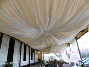 Оформление потолка на свадьбу дешево