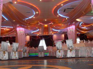 Декор потолка на свадьбу оригинально