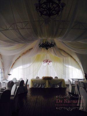 Оформление потолка на свадьбу недорого цены