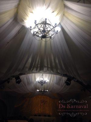 Оформление потолка для свадеб дешево