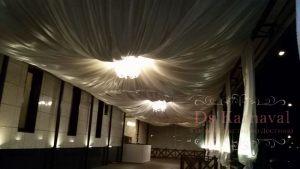 Оформление потолка для свадеб недорого
