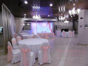 Украшение банкетного зала для свадьбы фото