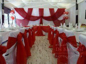 Украшение банкетного зала на свадьбу цены