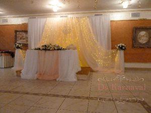 Декор банкетного зала на свадьбу оригинально