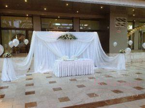 Украшение банкетного зала для свадеб недорого в Москве