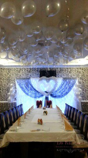 Оформление банкетного зала для свадьбы недорого в Москве