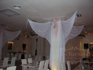 Оформление колонн для свадеб фото