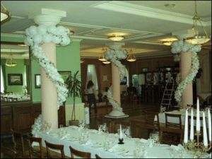 Декор колонн для свадьбы цены