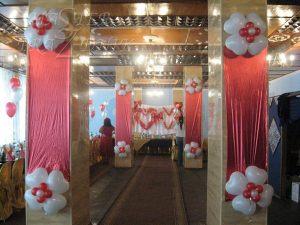Оформление колонн для свадьбы в Москве