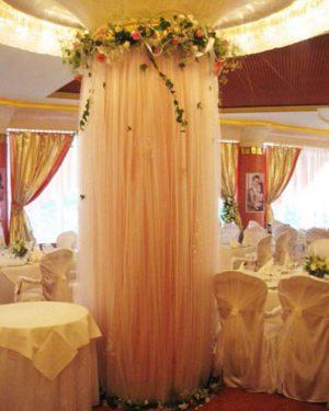 Оформление колонн на свадьбу фото и цены