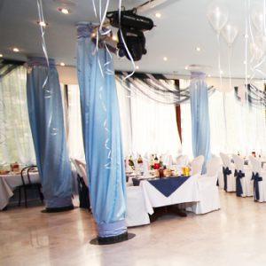 Декор колонн для свадеб красиво