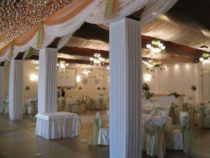 Оформление колонн на свадьбу недорого цены