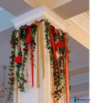 Декор колонн для свадеб в Москве