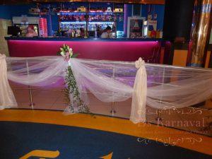 Оформление лестницы для свадеб недорого цены
