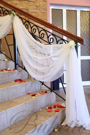 Декор лестницы на свадьбу фото и цены