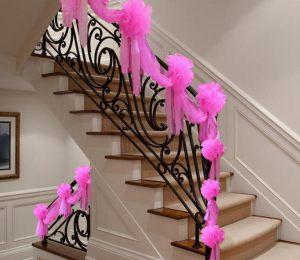Декор лестницы для свадьбы цены