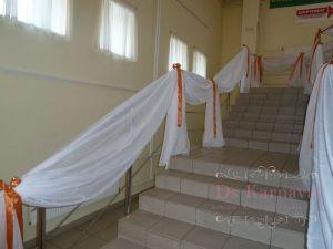 Оформление лестницы для свадьбы дешево