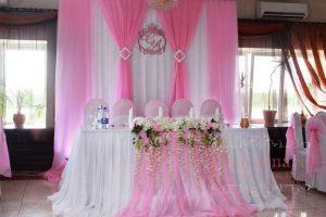 Оформление свадьбы тканью в Москве