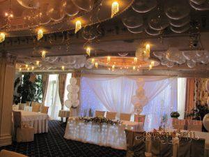 Украшение свадеб тканью цены