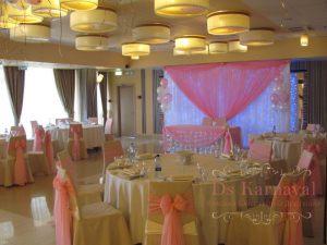 Декор свадьбы тканью оригинально