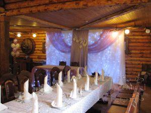 Оформление свадеб тканью оригинально