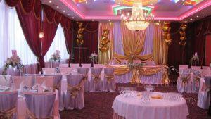 Оформление свадьбы тканью недорого в Москве