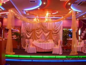 Декор свадьбы тканью красиво