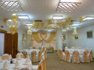 Декор ресторана на свадьбу тканью недорого