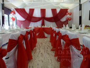 Оформление ресторана на свадьбу тканью фото