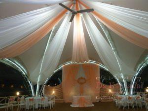 Оформление ресторана на свадьбу тканью фото и цены