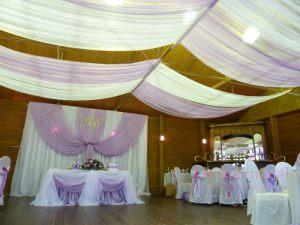 Украшение ресторана на свадьбу тканью недорого цены
