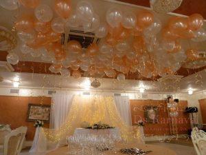 Украшение ресторана на свадьбу тканью недорого