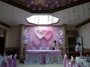Украшение ресторана на свадьбу тканью оригинально