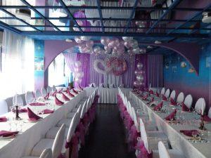 Декор ресторана для свадьбы тканью оригинально
