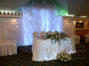 Декор стен на свадьбу недорого